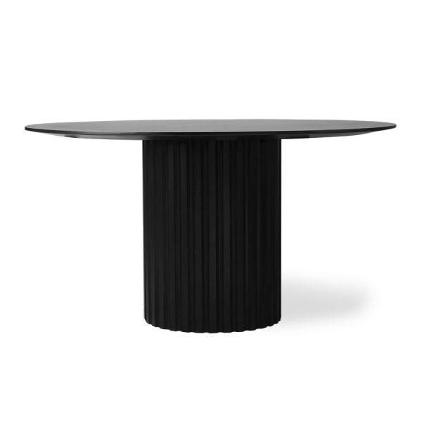 pillar dining table round black-0