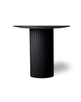 Hkliving pillar side table round black-0