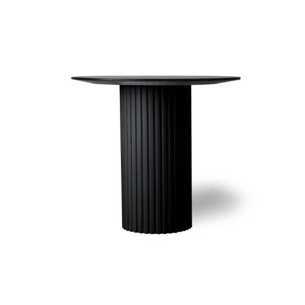 Hkliving pillar side table round black-0