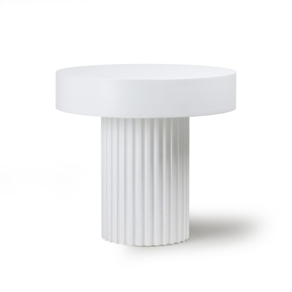 pillar coffee table round white-0