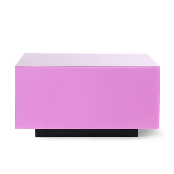 mirror block table pink L-28648