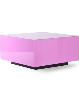 mirror block table pink L-0