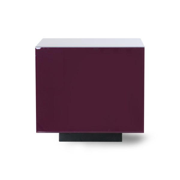 mirror block table purple M-28652