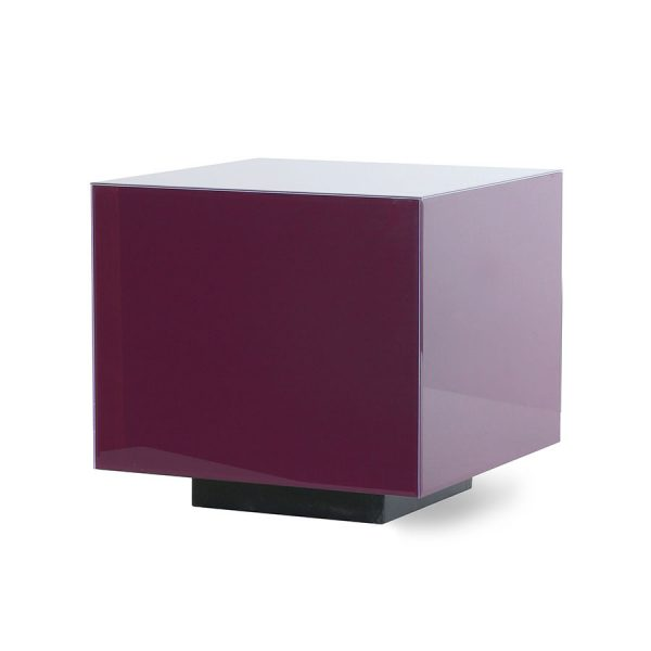 mirror block table purple M-0