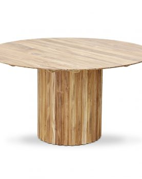 Hkliving pillar dining table round teak-28655
