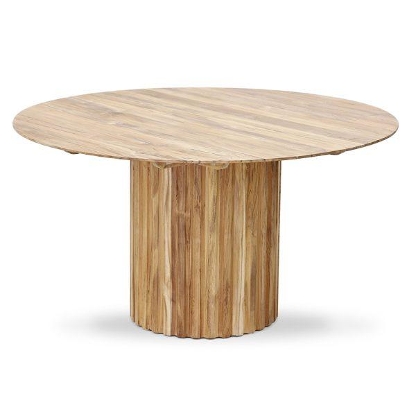 Hkliving pillar dining table round teak-28655