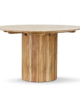 Hkliving pillar dining table round teak-0
