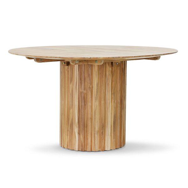 Hkliving pillar dining table round teak-0