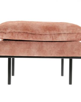 retro sofa: hocker, vintage velvet, old pink-0