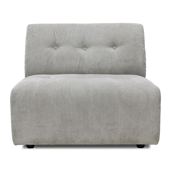 HKliving vint couch: element middle, corduroy rib, cream-0