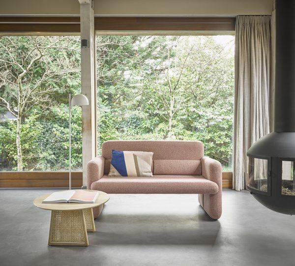 HKliving studio sofa coral red-28713