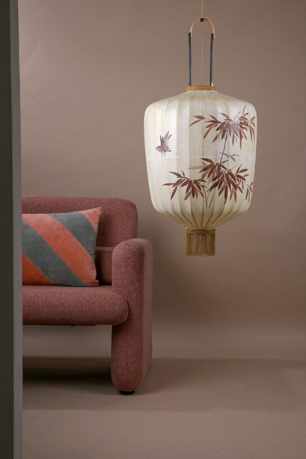 HKliving studio sofa coral red-28714