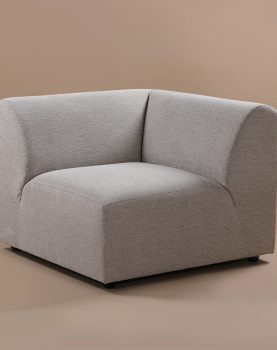 HKliving jax couch: element right, sneak, light grey-28734