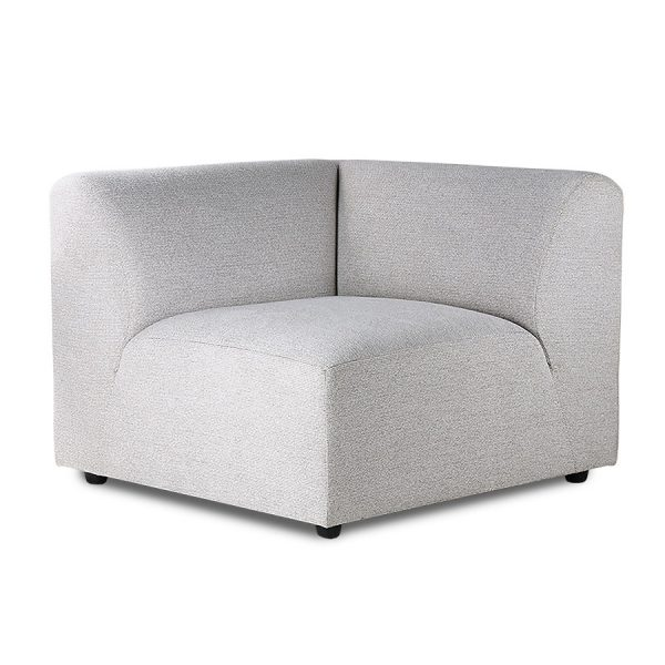 HKliving jax couch: element right, sneak, light grey-0