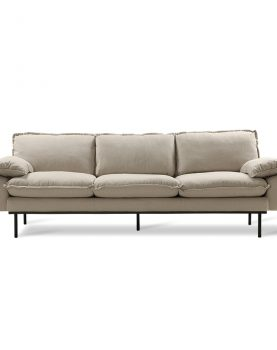 retro sofa: 4-seats, cosy, beige-0