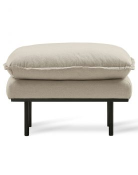 retro sofa: hocker, cosy, beige-0