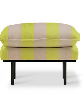 retro sofa: hocker striped yellow/nude-0