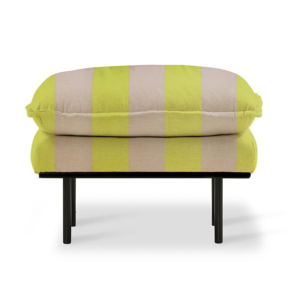 retro sofa: hocker striped yellow/nude-0