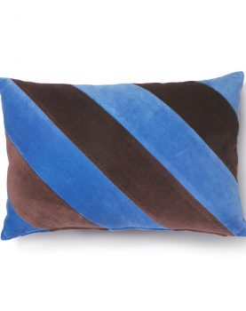 striped cushion velvet blue/purple (40x60)-0