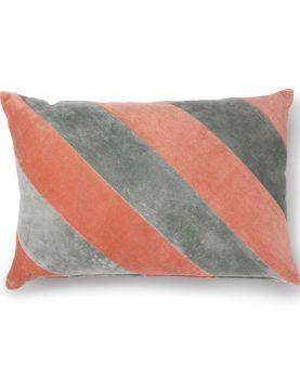 striped cushion velvet grey/nude (40x60)-0