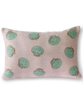 HKliivng jacquard weave greek shells cushion (35x50)-0