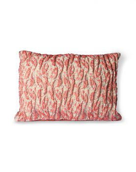 floral jacquard weave cushion red/pink (40x30)-0