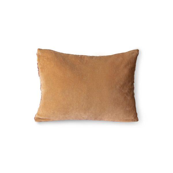 floral jacquard weave cushion burgundy/yellow (40x30)-28822