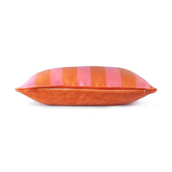 Hkliving satin/velvet cushion orange/pink (35x50)-28826