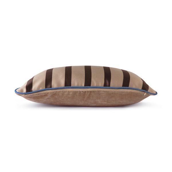 satin/velvet cushion bown/taupe (35x50)-28831