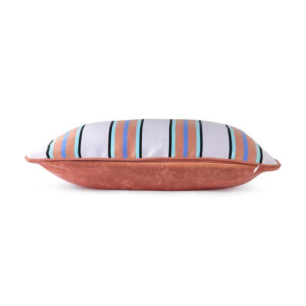 satin/velvet cushion orange/blue (35x50)-28833