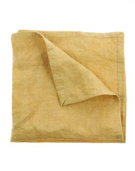 linnen napkin soft yellow set of 2 (45x45)-0