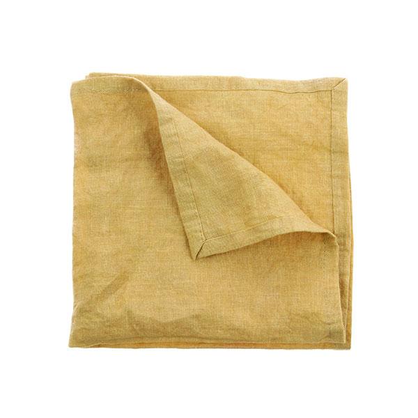 linnen napkin soft yellow set of 2 (45x45)-0