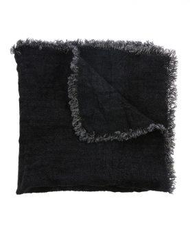 linnen napkin charcoal fringes set of 2 (45x45)-0