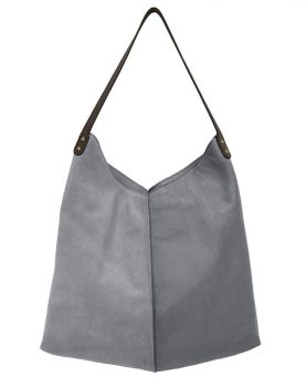 HKliving leather bag elephant grey-0