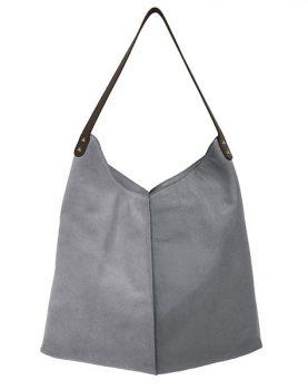 HKliving leather bag elephant grey-0