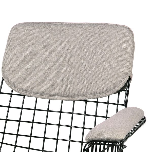 wire chair with arms comfort kit pebble-28886