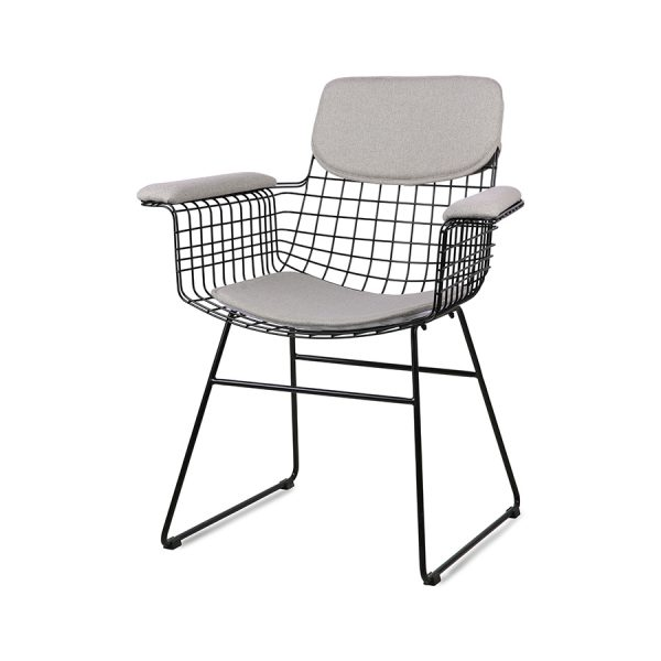 wire chair with arms comfort kit pebble-0