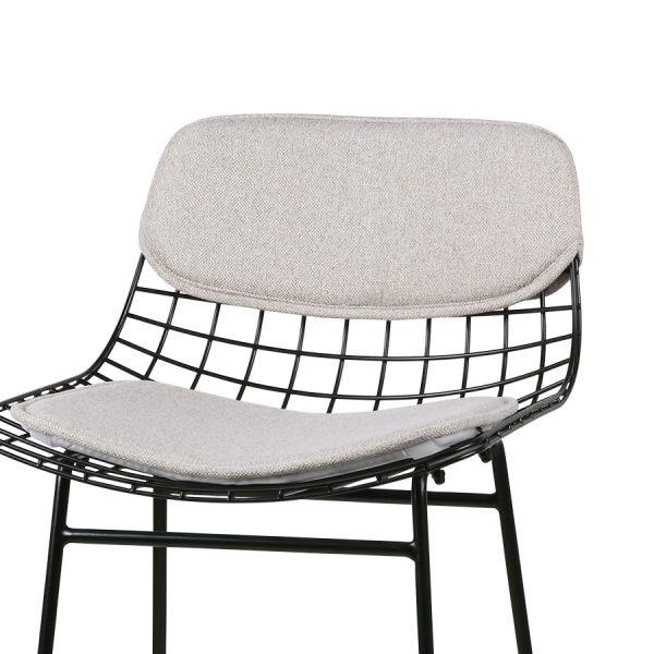 hkliving wire bar stool comfort kit pebble-28893