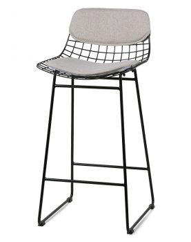 hkliving wire bar stool comfort kit pebble-0