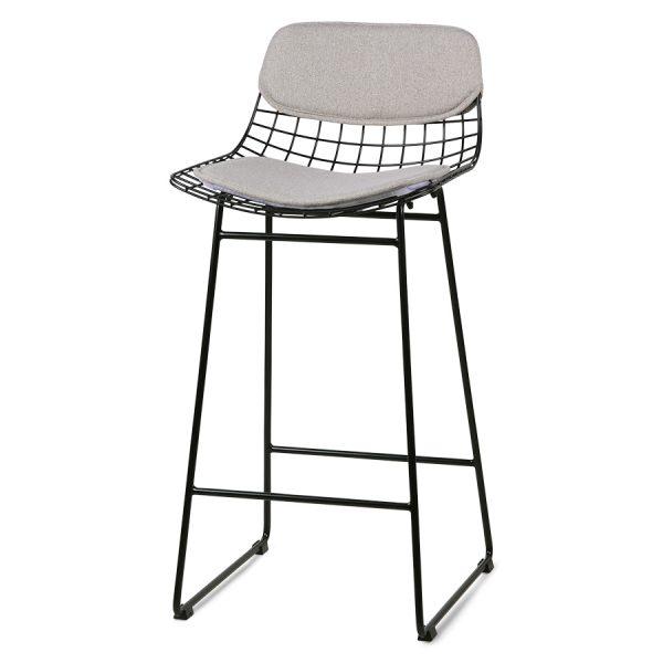 hkliving wire bar stool comfort kit pebble-0