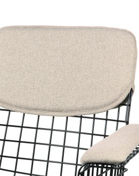 wire chair with arms comfort kit sand-28896