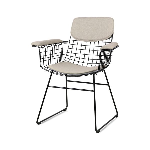 wire chair with arms comfort kit sand-0