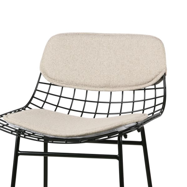 HKliving wire bar stool comfort kit sand -28903