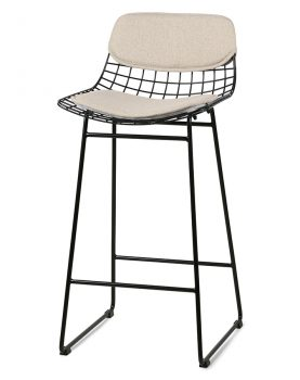 HKliving wire bar stool comfort kit sand -0