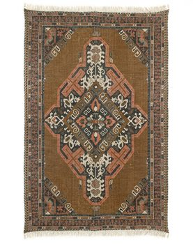 HKliving printed cotton/jute rug stonewashed (180x280)-0