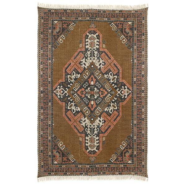 HKliving printed cotton/jute rug stonewashed (180x280)-0