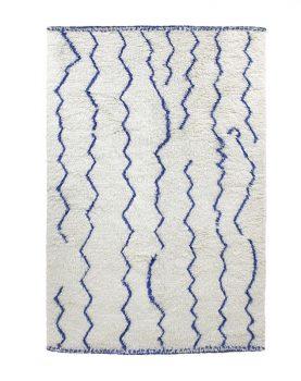 woolen berber rug organic cobalt (180x280)-0