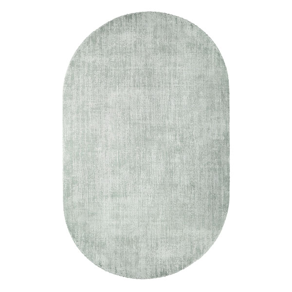 oval viscose rug mint green-0