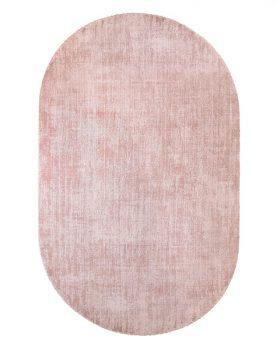 oval viscose rug nude-0