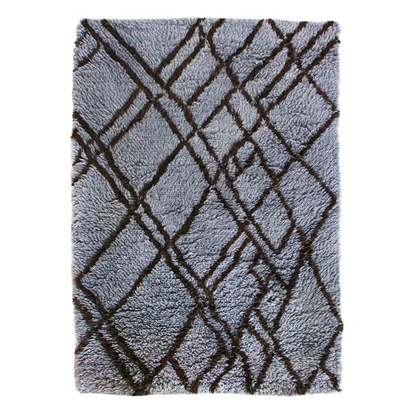 woolen berber rug grey/blue (180x280)-0